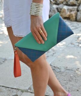 Plic Eleny - green, blue, orange