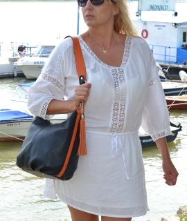 Poseta Laurie - black, orange