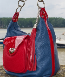 Poseta Laurie - red, blue