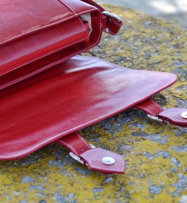 Geanta Cambridge red detalii