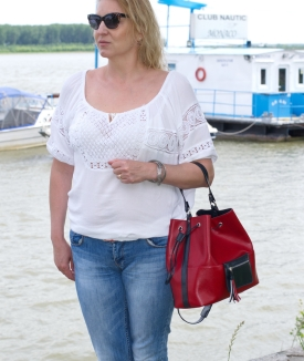 Rucsac Tommy - red, blue