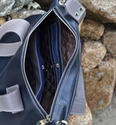 Poseta Dida-blue,gray detalii