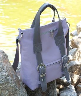 Poseta Dida - lavender, gray