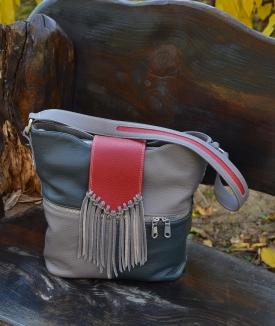 Poseta Irinuca - gray, dark gray, red