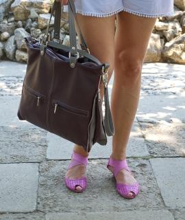 Poseta Cris - burgundy, gray