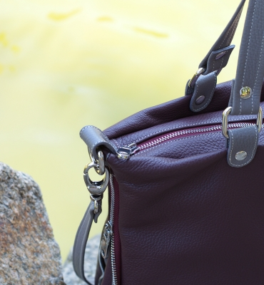 Poseta Cris-burgundy,gray detaliu