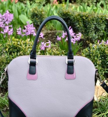 Poseta Valeria lavender, blue, pink imagine frontala