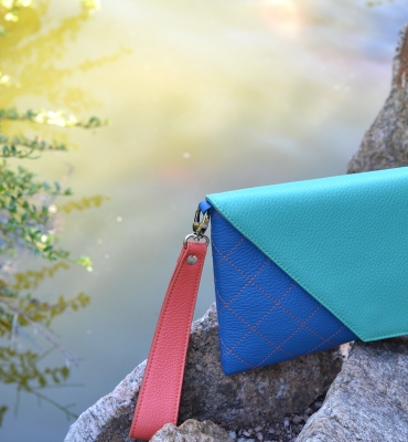 Plic Eleny - green, blue, orange detalii