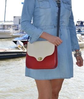 Poseta Mihaela - cream, red, blue