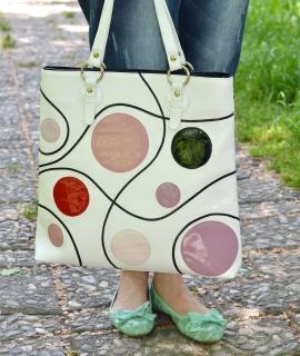 Poseta Bulina - white, dots