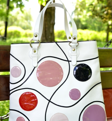 Dots-leather-shopper-bag-details