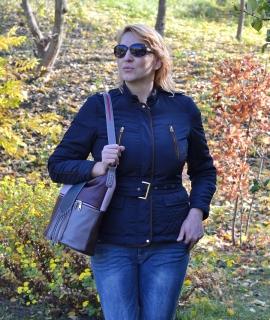 Geanta Irina - burgundy, gray, lavender